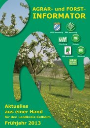 Frühjahr 2013 - Amt für Ernährung, Landwirtschaft und Forsten ...