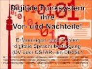 FDMA Systeme und ihre Insellösungen im digitalen Funksystem!