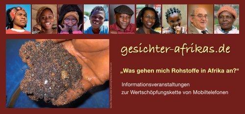 Flyer zur Veranstaltungsreihe in 2013 als PDF - Gesichter Afrikas