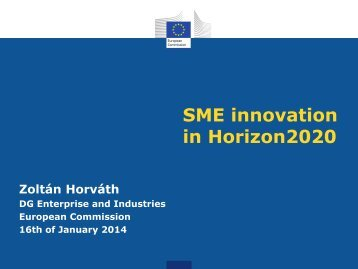 Innovation in SME - Europrogs