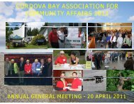 2011 AGM Presentation - Cordova Bay Association for Community ...