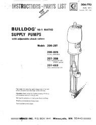 306793 AUG 1971 BULLDOG 10:1 SUPPLY PUMPS - Graco Inc.