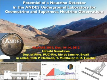 Potential of a Neutrino Detector in the ANDES ... - ictp – saifr