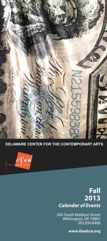 Fall Calendar of Events PDF - Delaware Center for the ...