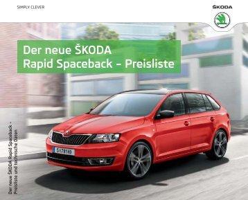 Der neue ŠKODA Rapid Spaceback – Preisliste - über den Rapid ...