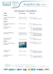 Lista referencyjna – baseny publiczne - BASPOL Sp. z oo