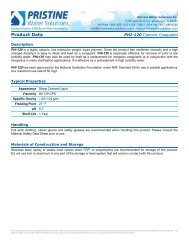 Cationic Coagulant - Pristine Water Solutions Inc.