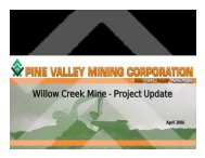 Willow Creek Mine - Project Update - Minerals North