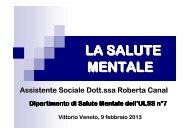 Dott.ssa Roberta Canal: la salute mentale - Treviso volontariato