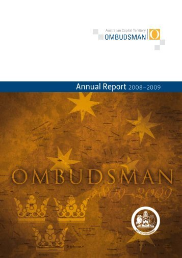 Annual Report 2008–2009 - Australian Capital Territory ...