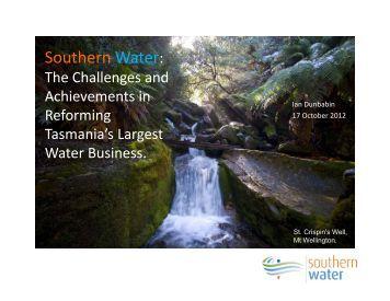 Southern Water: - Australian Water Association