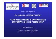Seminario regionale 10-2-2009 - USR Piemonte