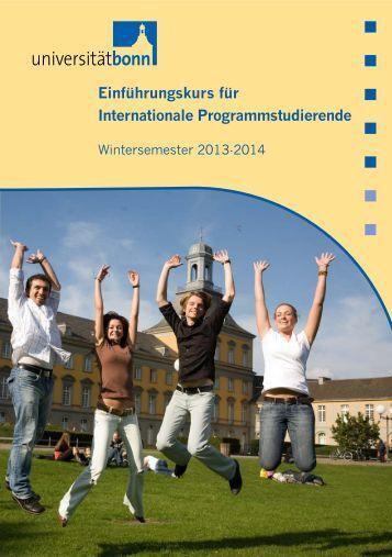 Einführungskurs für Internationale ... - Universität Bonn