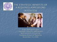 the strategic benefits of a required admissions interview - AACRAO