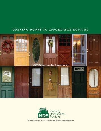 07 HDF AR - HDF: Housing Development Fund, Inc.