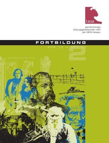FORTBILDUNG - GEW Bezirksverband Frankfurt