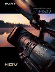 Sony HVR-Z1U HDV 1080i Professional Camcorder