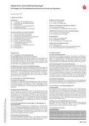Allgemeine Geschäftsbedingungen der Sparkasse Hilden · Ratingen