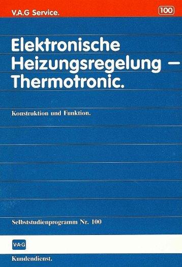 100 Elektronische Heizungsregelung - Thermotronic - VolksPage.Net
