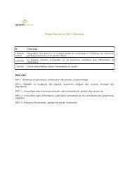 Projets financés en 2011 (Résumés) Mots clés: BIP-1 ... - Agropolis