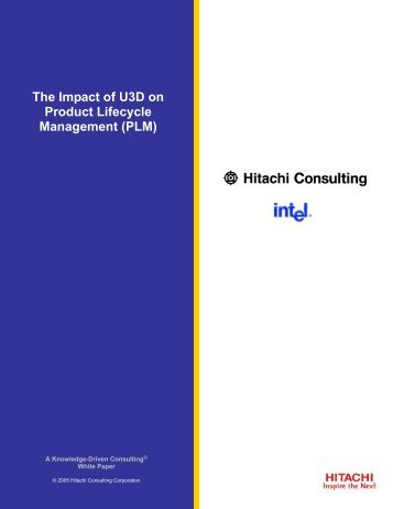 The Impact of U3D on Product Lifecycle Management (PLM)