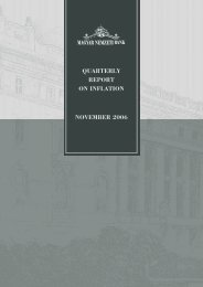 QUARTERLY REPORT ON INFLATION NOVEMBER 2006 - EPA