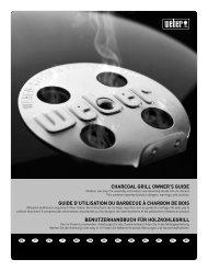 charcoal grill owner's guide guide d'utilisation du barbecue ... - Weber