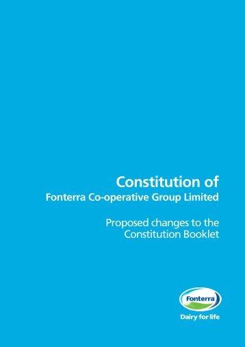 Constitution of - Fonterra