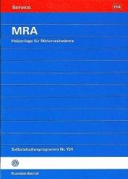 154 MRA - Heizanlage für Motorrestwärme - VolksPage.Net