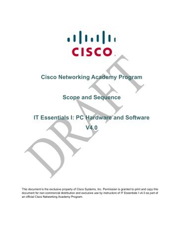 Cisco Networking Academy Program Scope and ... - AIM Institute