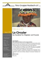 2007-08 la circular-Der Erste - peru-gruppe heubach ev