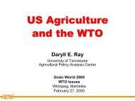 US Agriculture and the WTO - Agricultural Policy Analysis Center