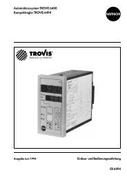 Automationssystem TROVIS 6400 ... - Samson AG Mess