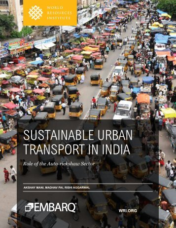 SuStainable urban tranSport in india - World Resources Institute