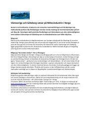 Västsverige och Göteborg satsar på Mötesindustrin i Norge