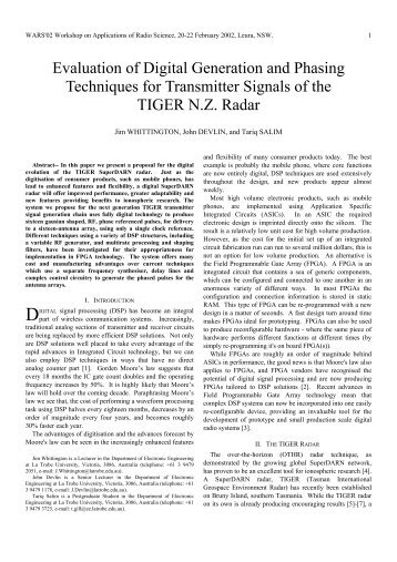 Evaluation of Digital Generation and Phasing Techniques for ...