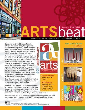 Artsbeat - Summer 2012 - Decatur Area Arts Council