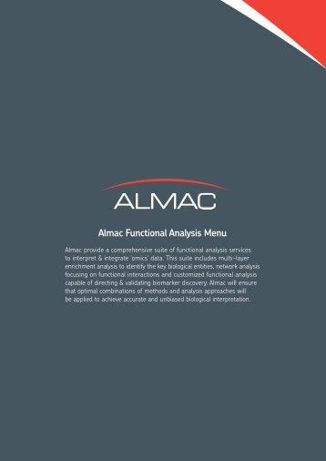 Almac Functional Analysis Menu