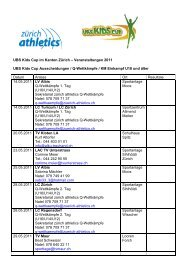 Lokale Ausscheidungen UBS Kids Cup 2011 - zürich-athletics