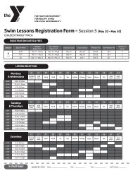 Swim Lessons Registration Form - Session 5(May 20 - May 30)