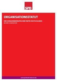 ORGANISATIONSSTATUT - SPD-Bezirk Hannover