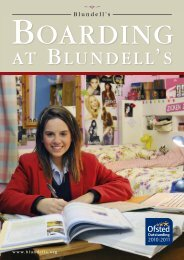 Boarding at Blundell's (PDF - 1.6 MB) - Blundell's School