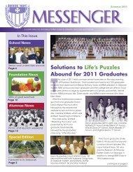 Summer 2011 Messenger - Mount St. Mary Academy - Website