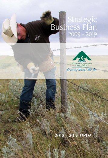 Strategic Business Plan - Alberta Conservation Association