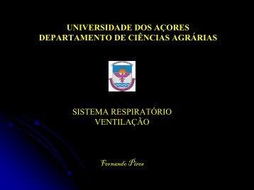 Ventilação - Universidade dos Açores