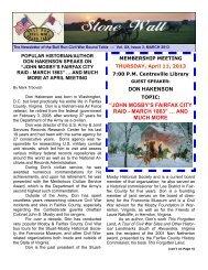 March issue 3 - BULL RUN Civil War Round Table