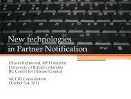 New technologies in Partner Notification - NCCID