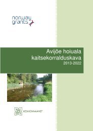 Avijõe hoiuala kaitsekorralduskava - Keskkonnaamet