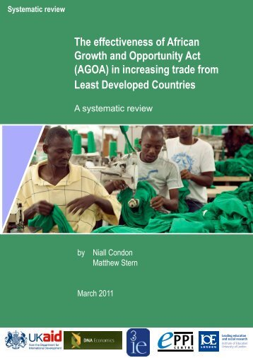 The effectiveness of African Growth and Opportunity Act (AGOA) in ...