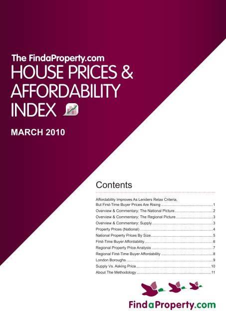 Findaproperty.com House Prices and Affordability Index March 2010